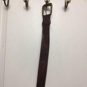 Vintage Levi Tooled leather Belt 38 inches